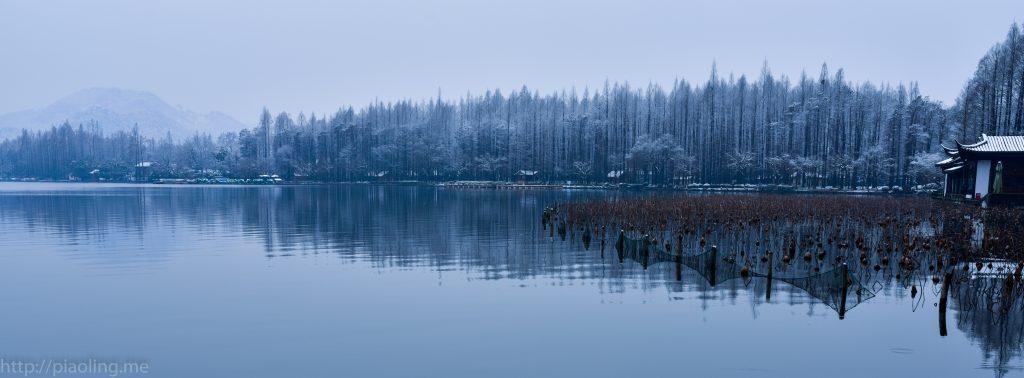 杭州西湖雪景
