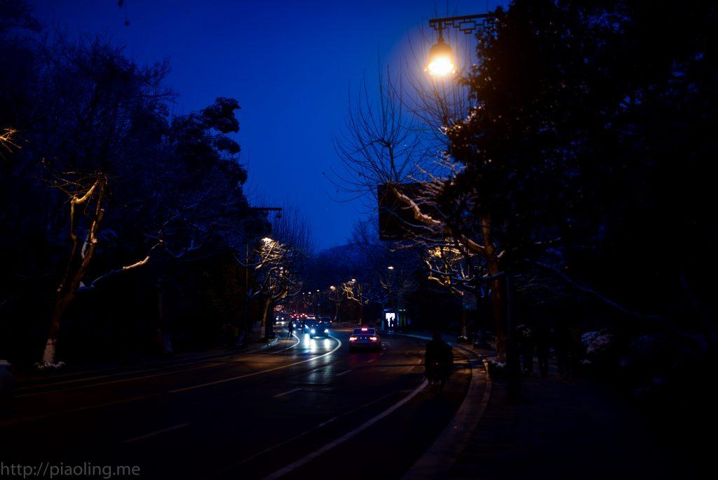 杭州西湖冬季夜景