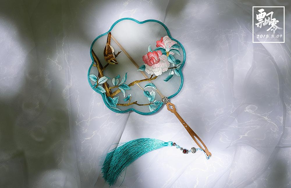 中华传统手工艺,苏绣团扇